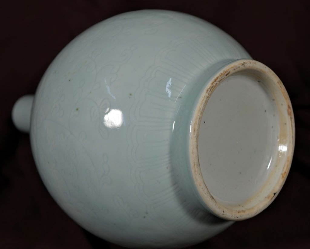 Vase En Porcelaine Céladon - Chine - Epoque Kangxi (1662-1722)-photo-3