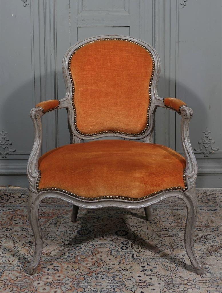 Paire De Fauteuils Louis XV Estampillés M. Jullien