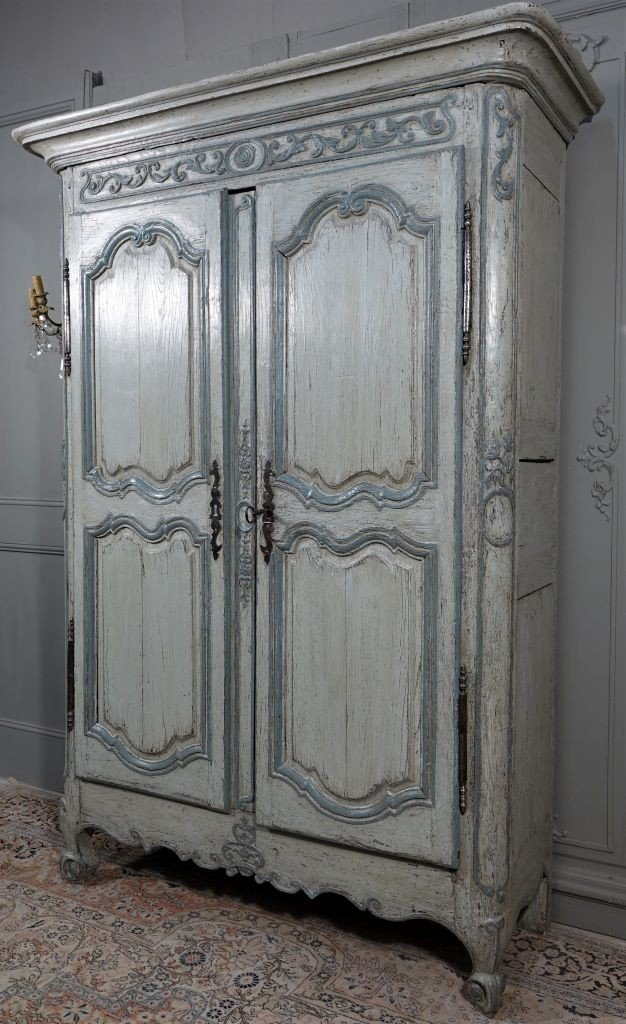 Small Painted Wardrobe, Regency Period-photo-2