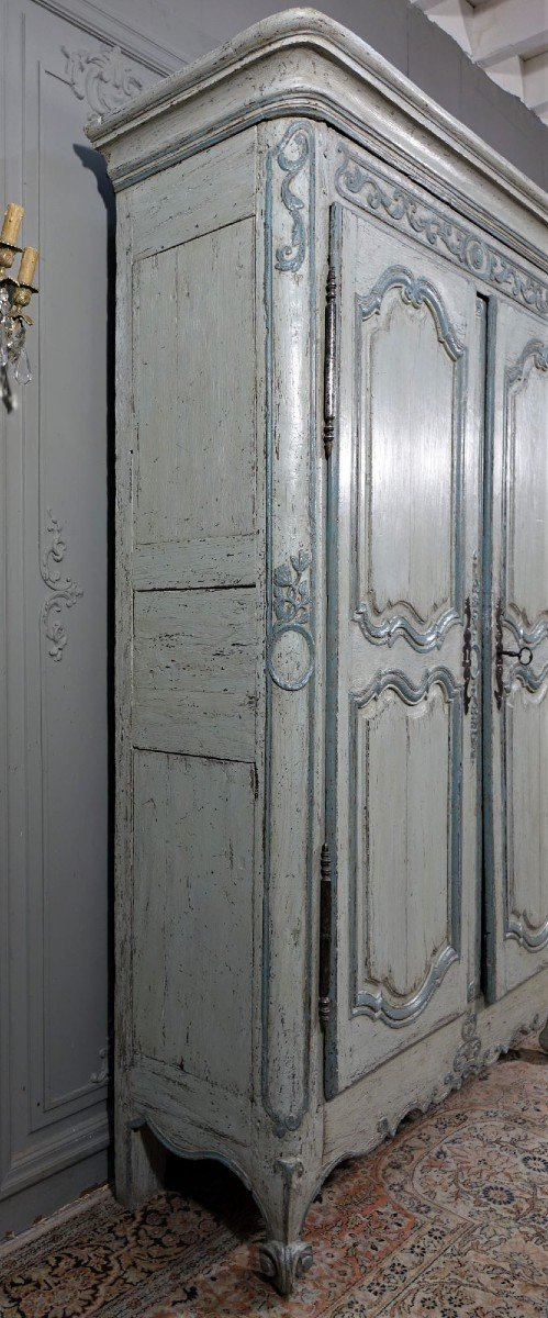 Small Painted Wardrobe, Regency Period-photo-1