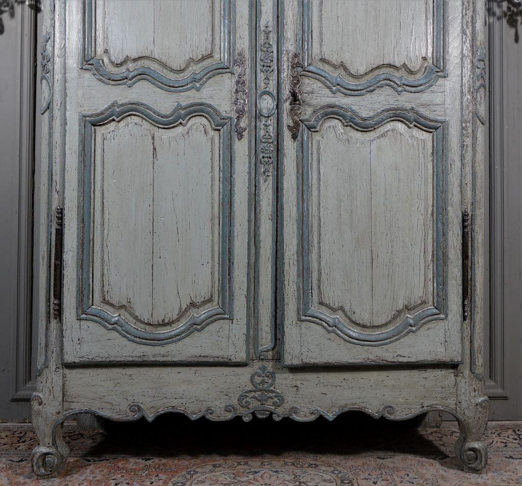 Small Painted Wardrobe, Regency Period-photo-3