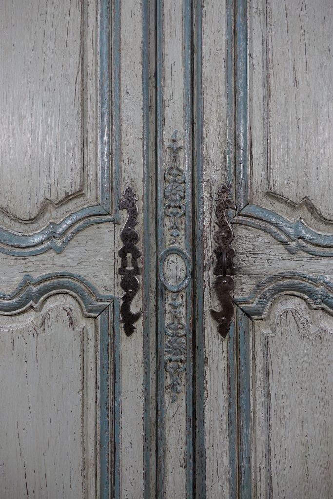 Small Painted Wardrobe, Regency Period-photo-4