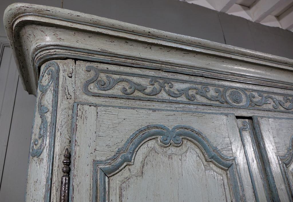 Small Painted Wardrobe, Regency Period-photo-5