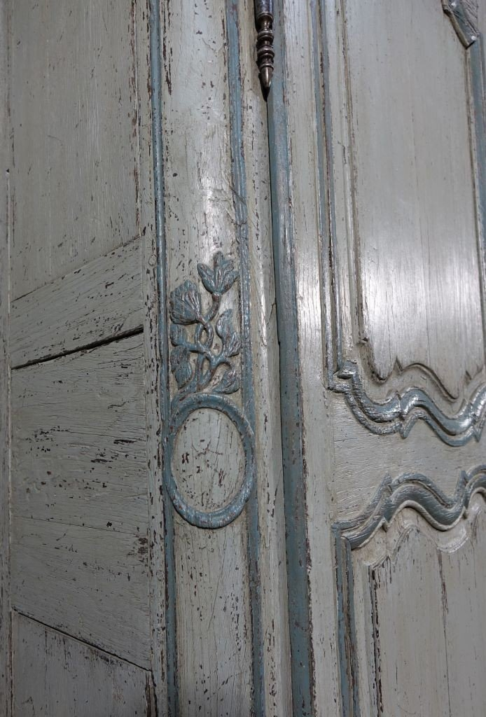 Small Painted Wardrobe, Regency Period-photo-7