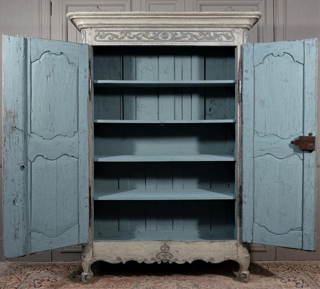 Small Painted Wardrobe, Regency Period-photo-8