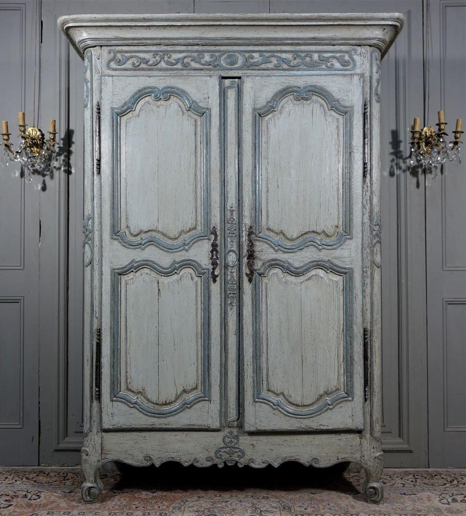 Small Painted Wardrobe, Regency Period
