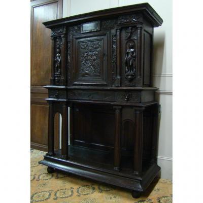 Cabinet d'époque Renaissance En Chêne Fin XVIeme