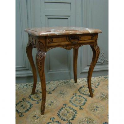 Table De Salon d'époque Louis XV En Noyer