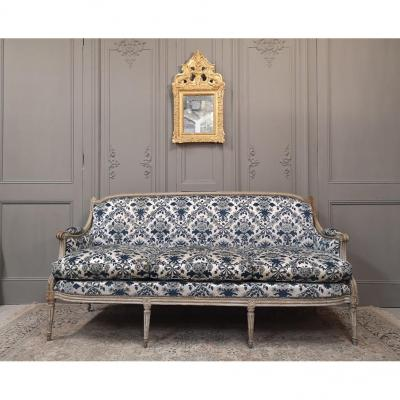Grand Sofa Louis XVI Lacquered Wood.