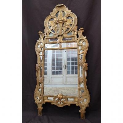 """Miroir provençal dit """"de Beaucaire"""" d'époque Louis XV. Milieu XVIIIème"""