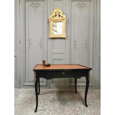 Black Lacquered Louis XV Table. Middle Eighteenth Period