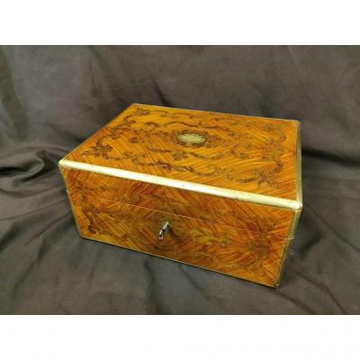 Box In Marquetry And Brass Louis XIV Style. Middle XIXth