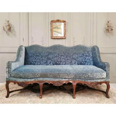Regency Period Sofa In Stained Beech. Early 18th Century