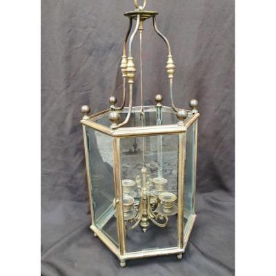Lanterne De Vestibule En Bronze Doré. Epoque Début XIXème