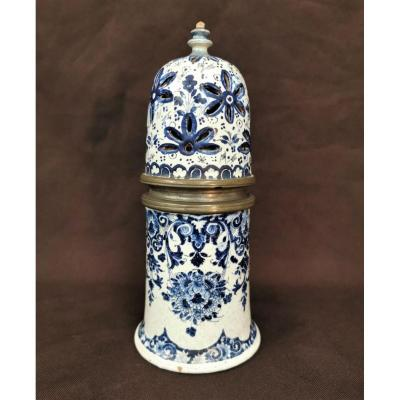 Rouen Earthenware Shaker. Period Late 17th / Early 18th