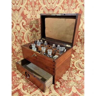 Solid Mahogany Apothecary Box.
