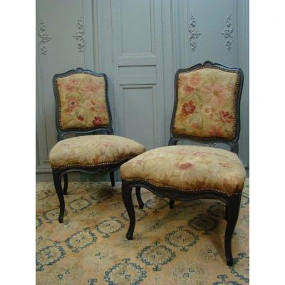 Pair Of Louis XV Period Chairs Files To The Queen.