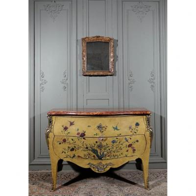 Louis XV Style Daffodil Commode. Period End XIX / Beginning XXth