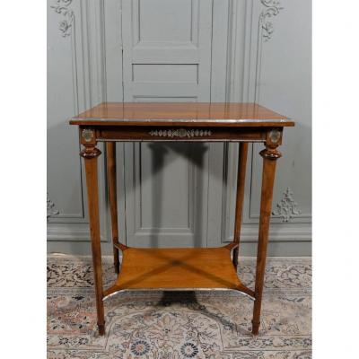Louis XVI Style Living Room Table In Solid Mahogany