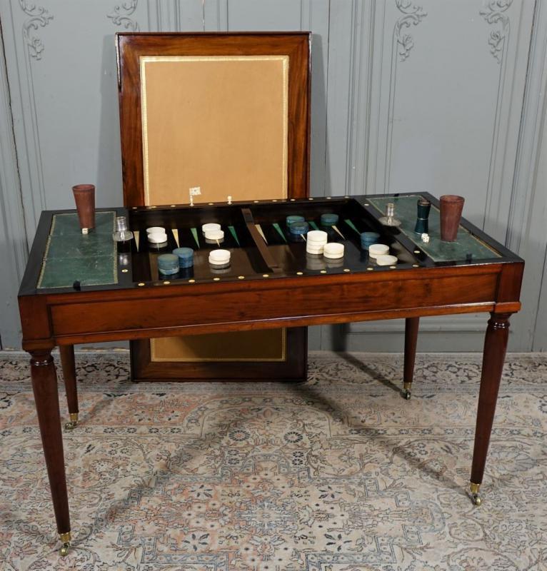 Table De Tric Trac d'époque Louis XVI Estampillée D.L ANCELLET-photo-2