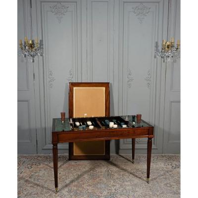 Table De Tric Trac d'époque Louis XVI Estampillée D.L ANCELLET
