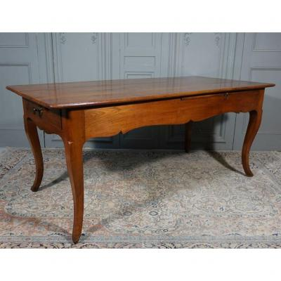 Table De Ferme De Style Louis XV En Merisier