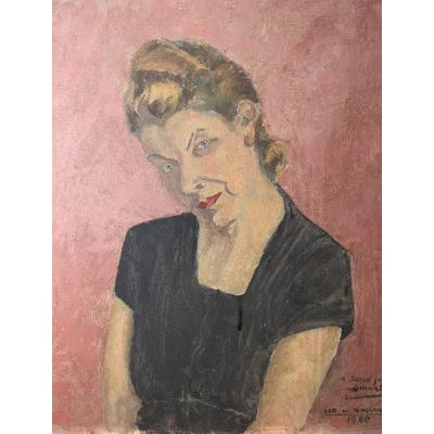 Portrait Of Female Expressionist 1948