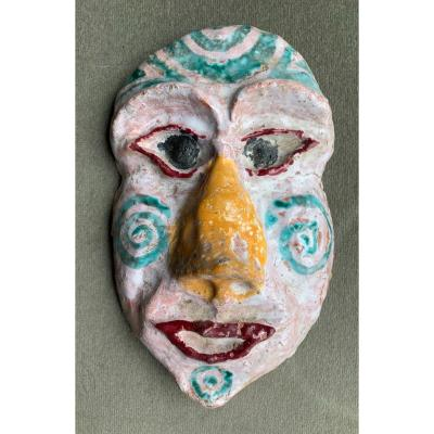 Glazed Terracotta Mask ~ 1950