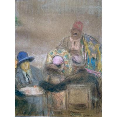 Scène De Cabaret . Richard Ranft 1862-1931