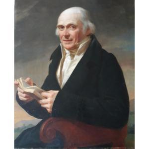 Portrait d'Homme Au Livre 19 ème