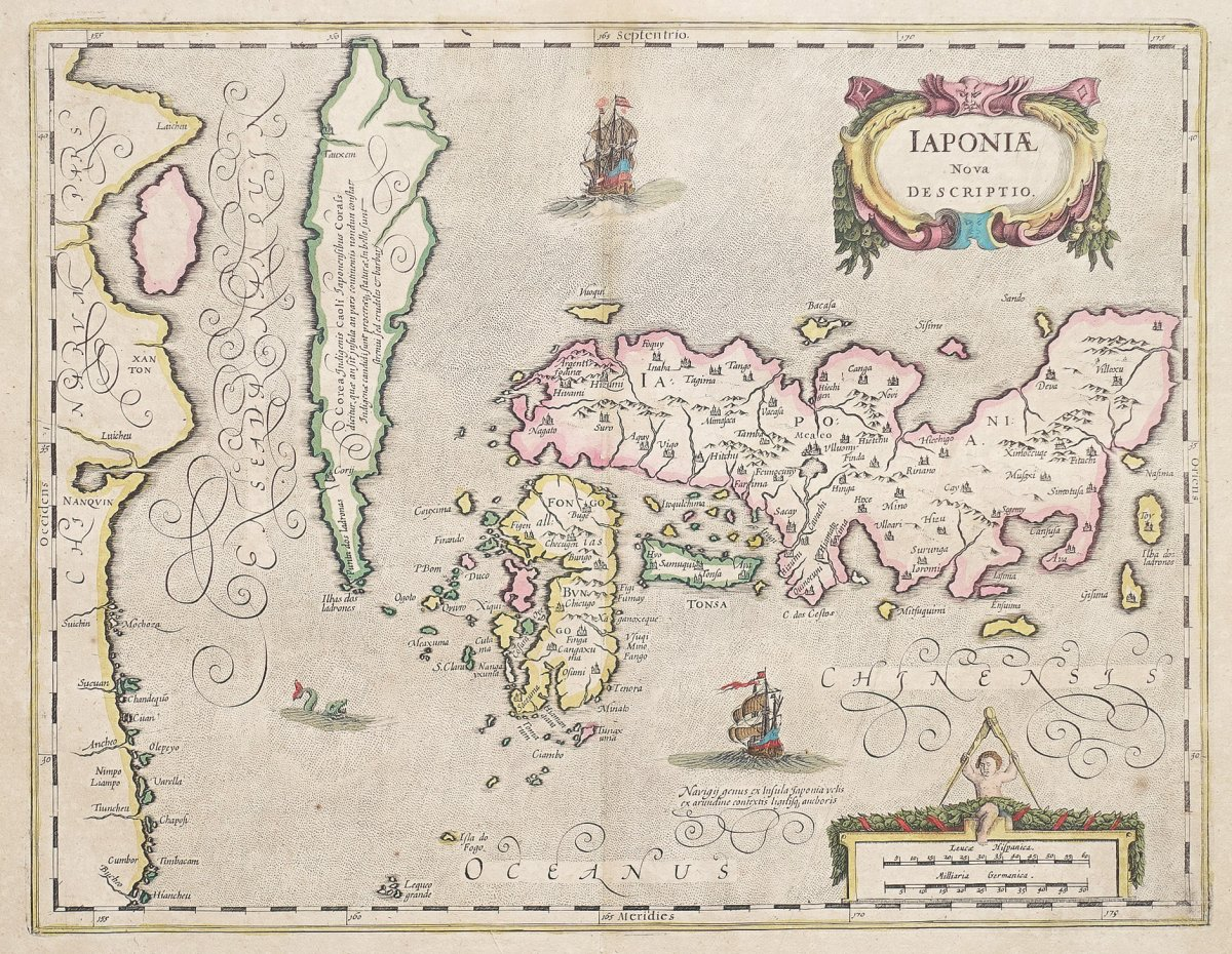 Picture of: Old Geographic Map Of Japan Korea Iaponia Nova Description Ancient Maps