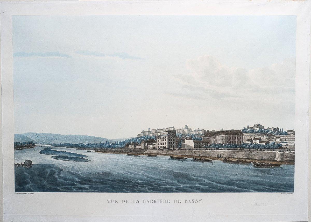 Vue De La Barrière De Passy  - François Damame Demartrais auteur