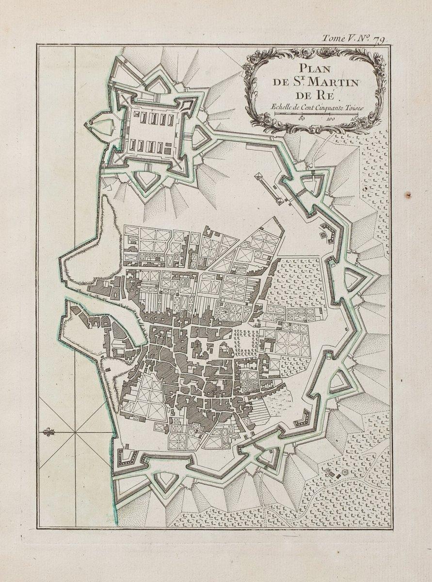 Carte Geographique Ancienne Ile De Re St Martin De Re Cartes Anciennes