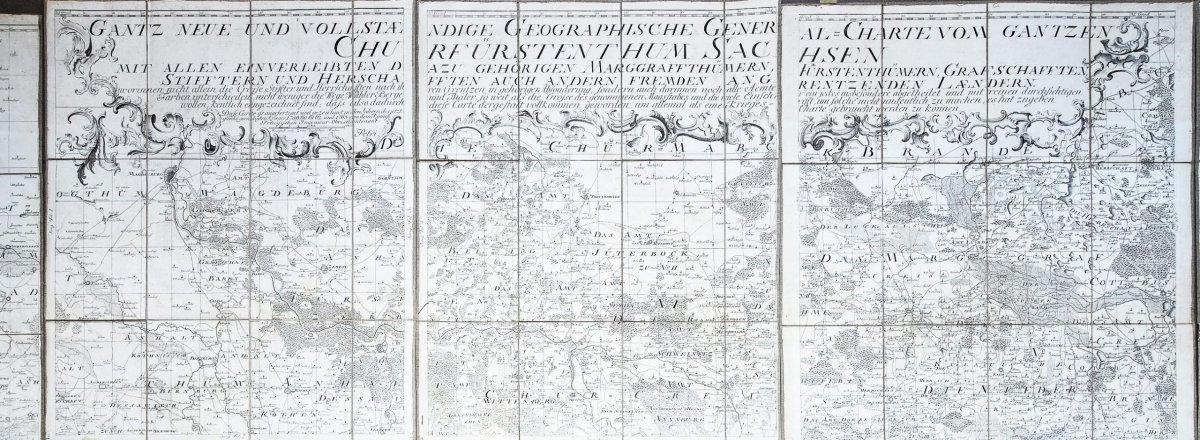 Saxe - Carte Géographique Ancienne-photo-1