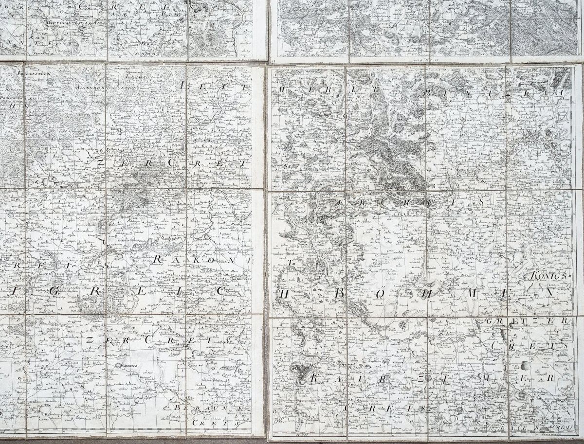 Saxe - Carte Géographique Ancienne-photo-2