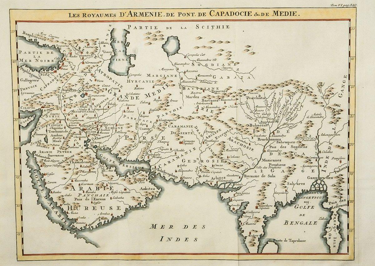 Carte ancienne des Royaumes d'Arménie
