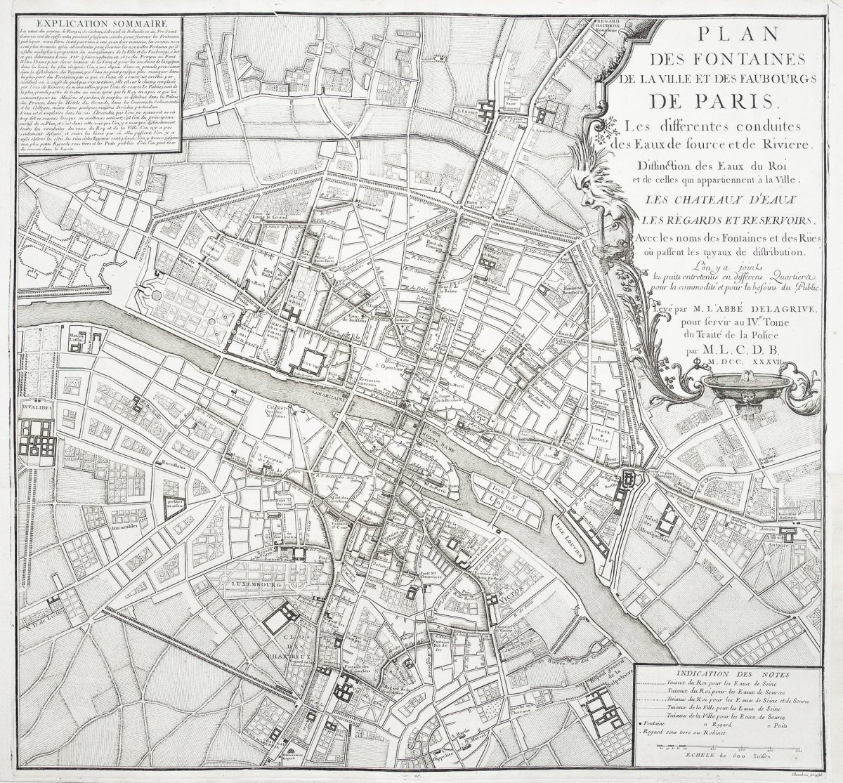Plan Des Fontaines De La Ville De Paris