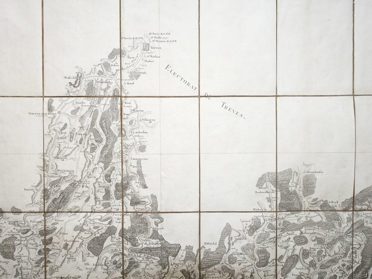 Carte géographique Luxembourg – Trèves - Cassini-photo-2