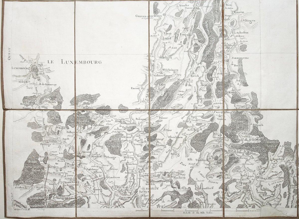 Carte géographique Luxembourg – Trèves - Cassini-photo-4