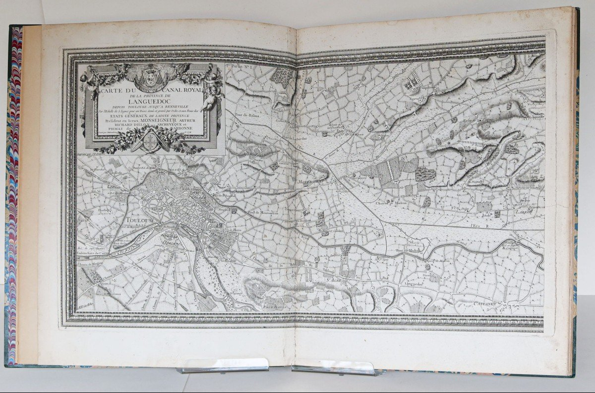 Atlas ancien du Canal du Midi  Languedoc