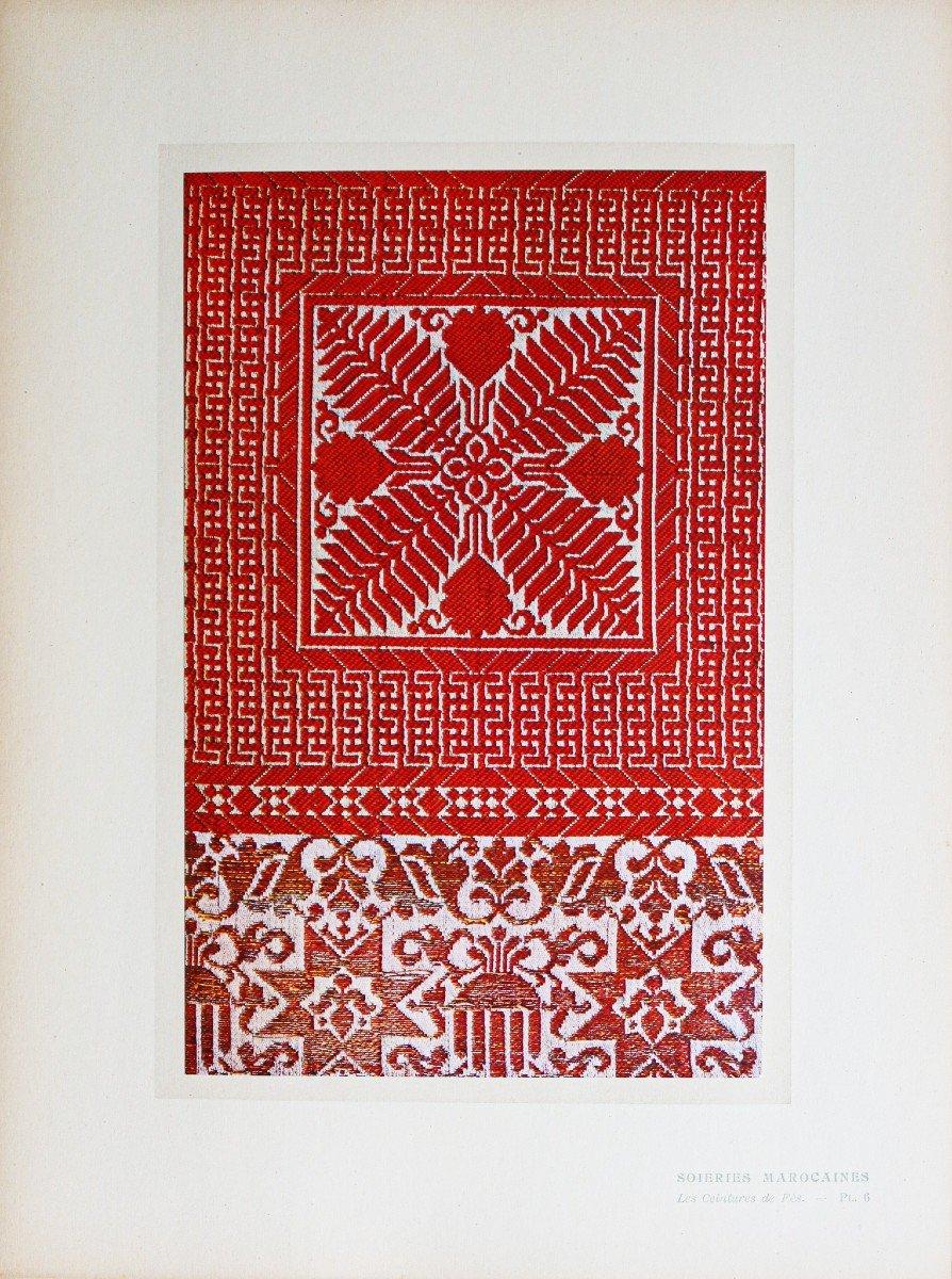gravure ancienne du Maroc - Soieries-photo-2