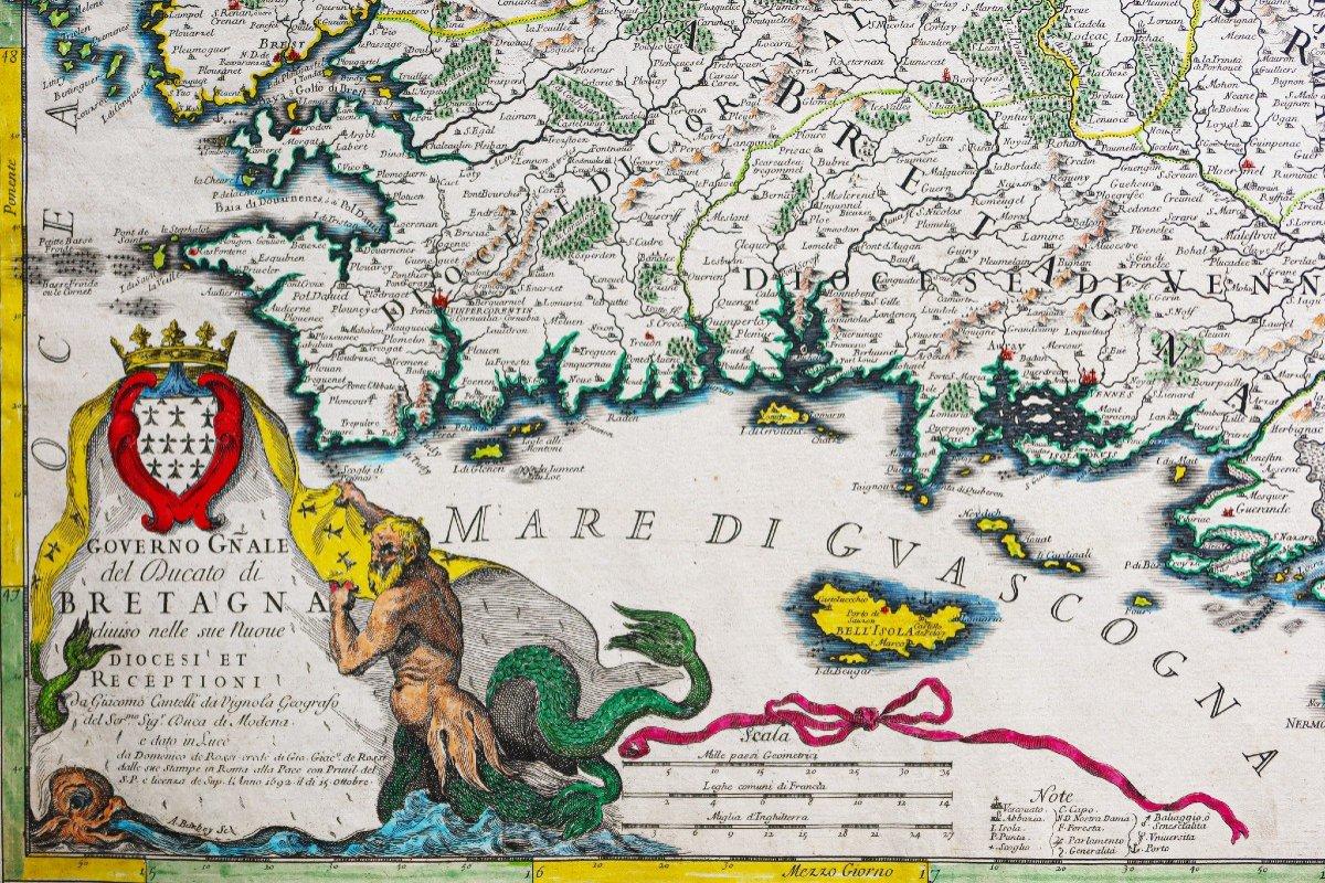 Carte Géographique Ancienne Du Gouvernement De Bretagne-photo-2