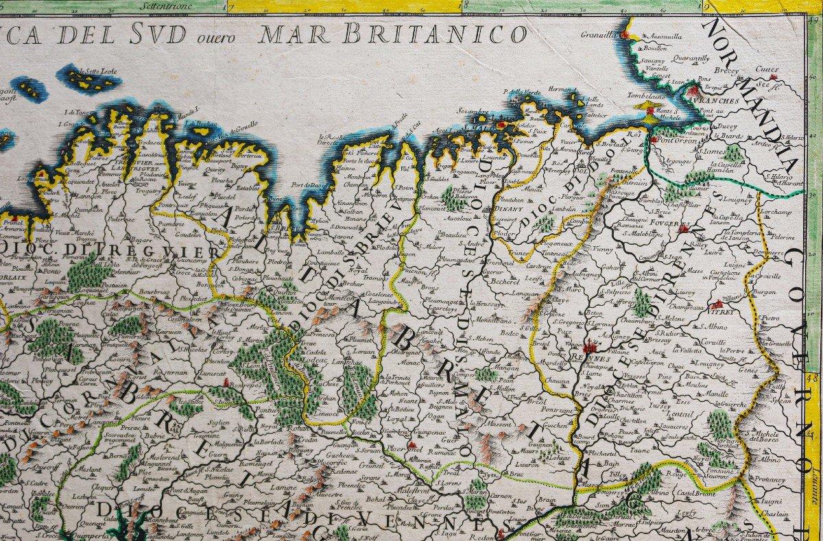 Carte Géographique Ancienne Du Gouvernement De Bretagne-photo-3