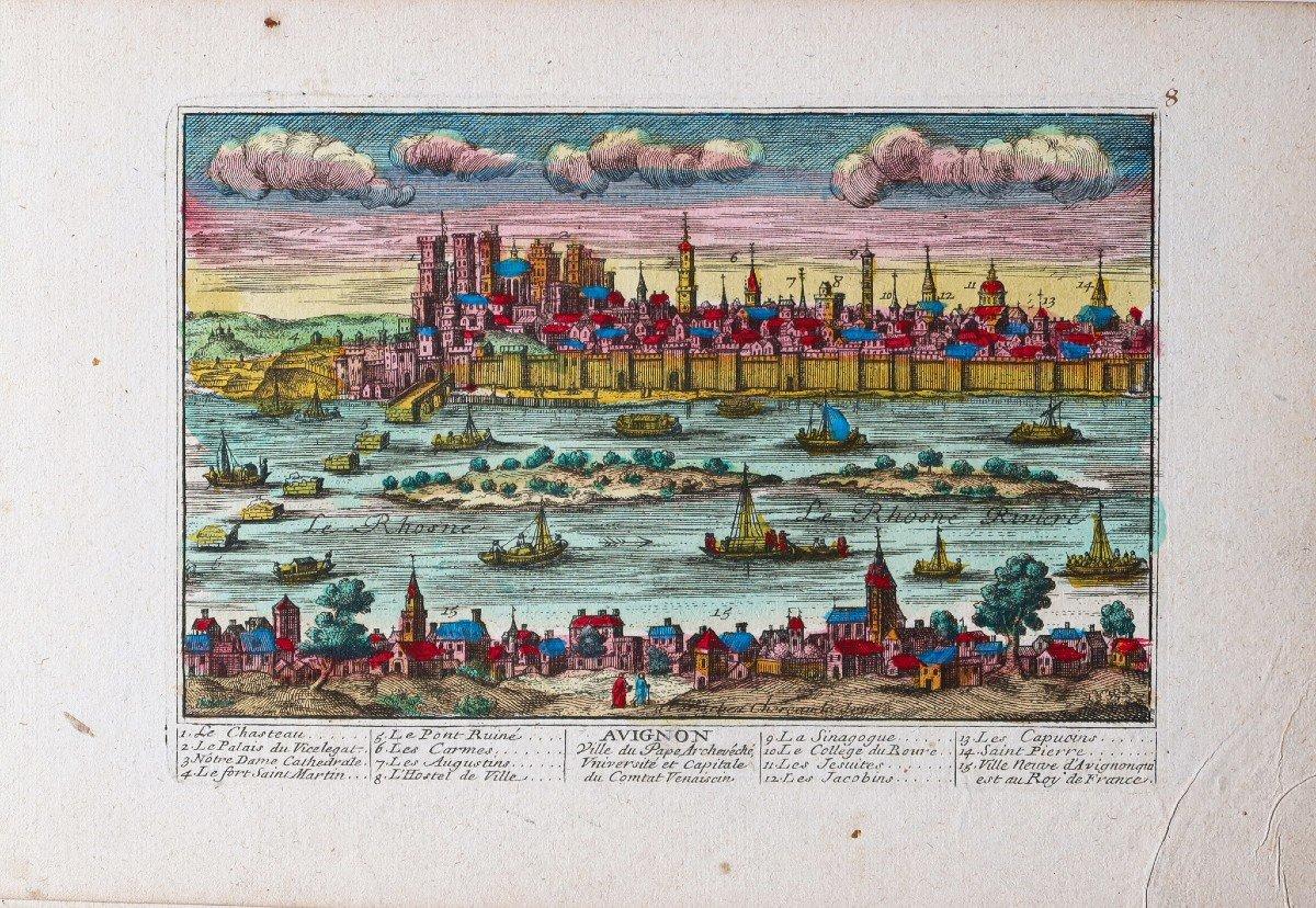 Gravure ancienne d'Avignon