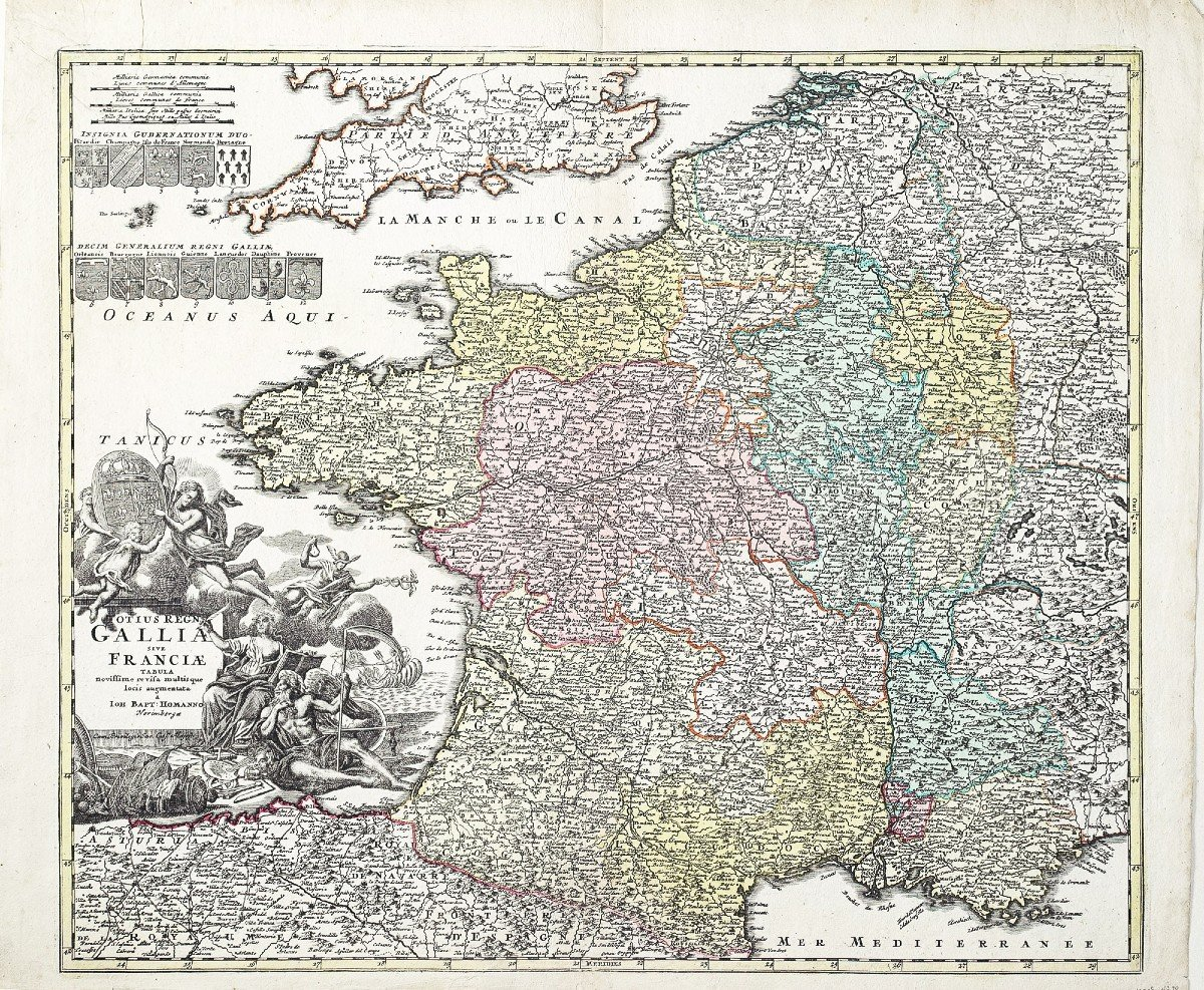 Carte De France Du 18ème Siècle-photo-1