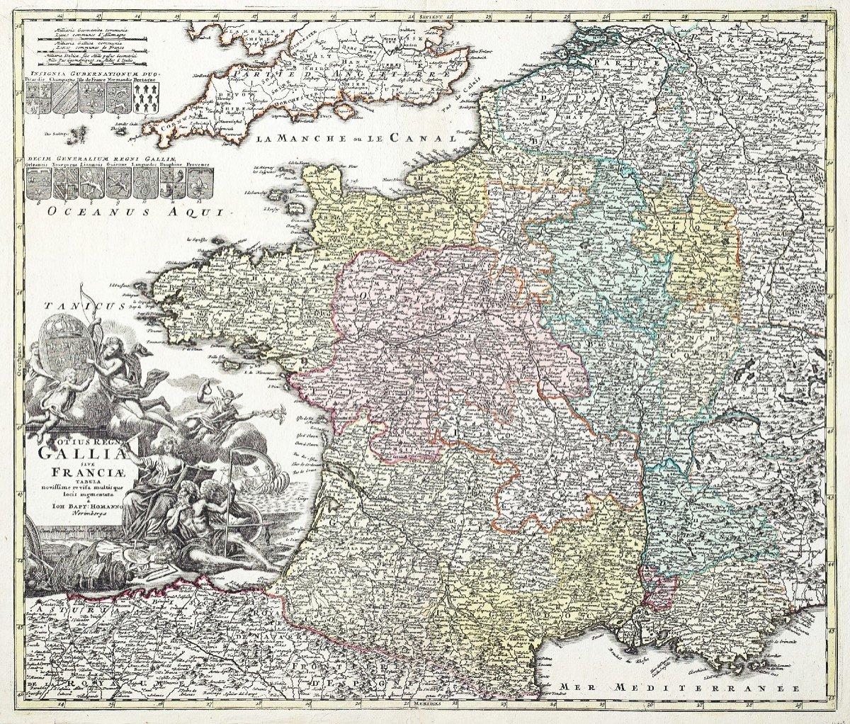 Carte De France Du 18ème Siècle