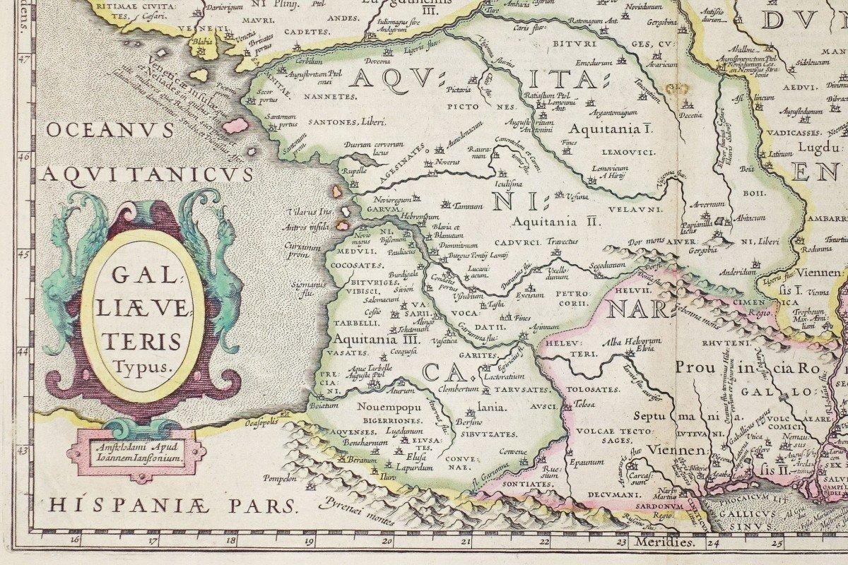 Carte Géographique Ancienne De La France – Galliae-photo-2