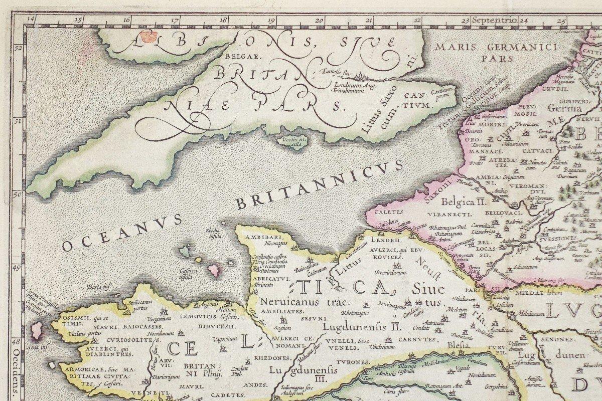Carte Géographique Ancienne De La France – Galliae-photo-4