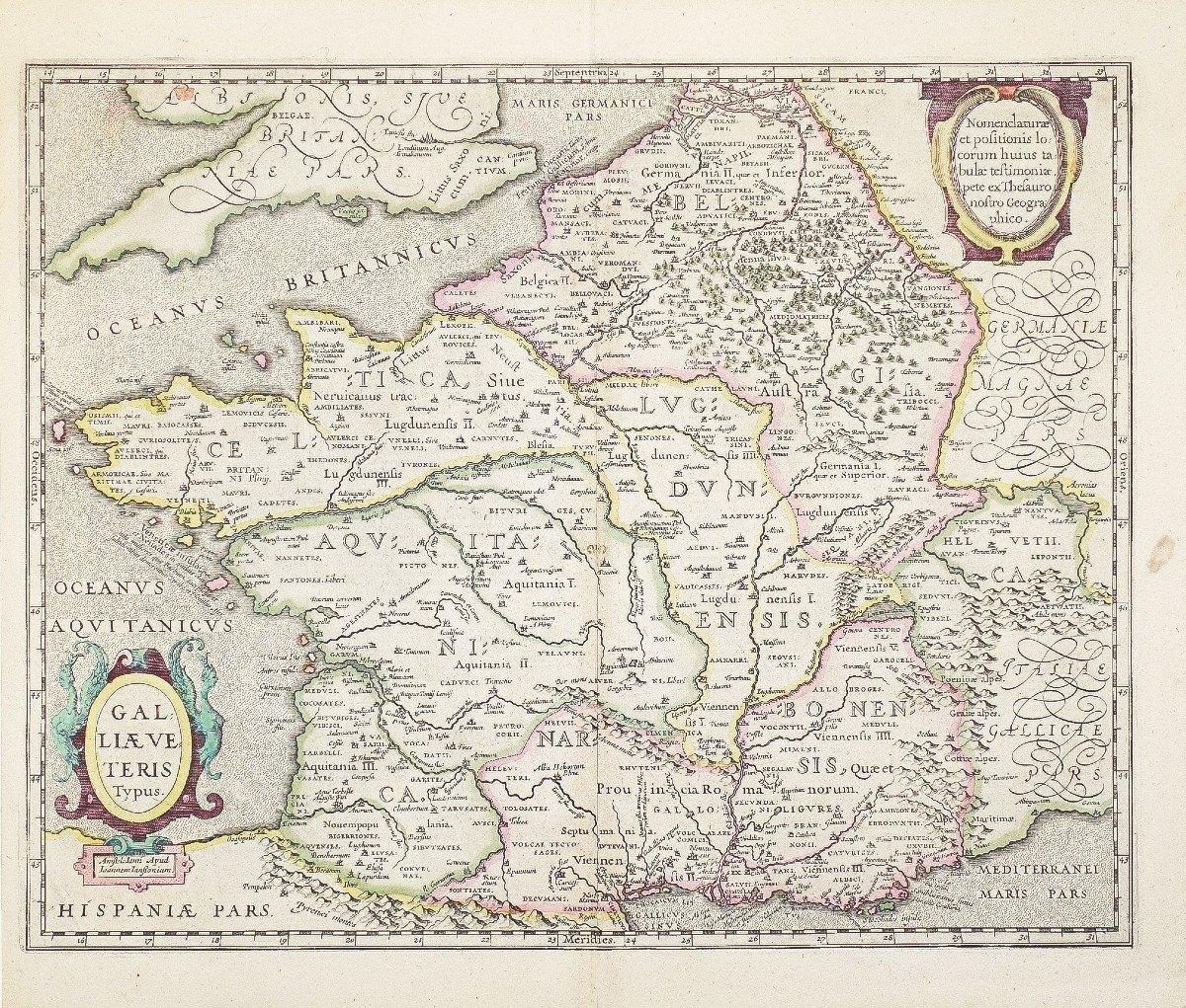 Carte Géographique Ancienne De La France – Galliae-photo-1