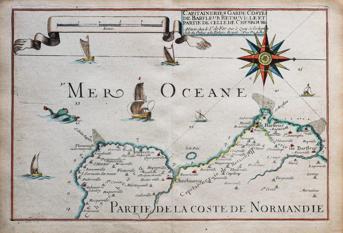 Carte Marine Ancienne Du Cotentin - Barfleur